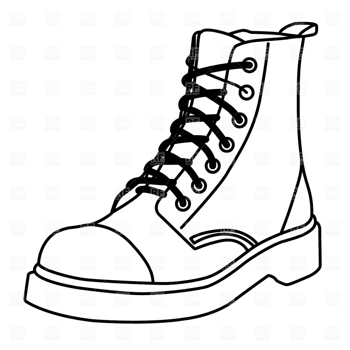 Boot Outline Royalty Free Vector Clip Art