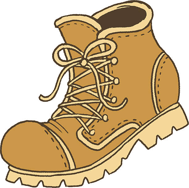 hiking boot vector art illust - Boot Clipart