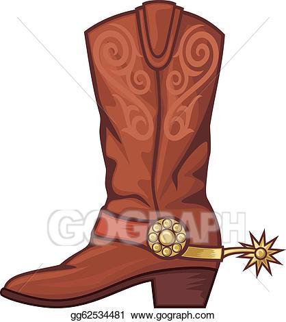 Vector Art - Cowboy boot. Cli - Boot Clipart