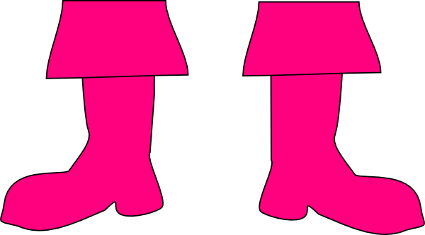 Pink Boots Clipart #1