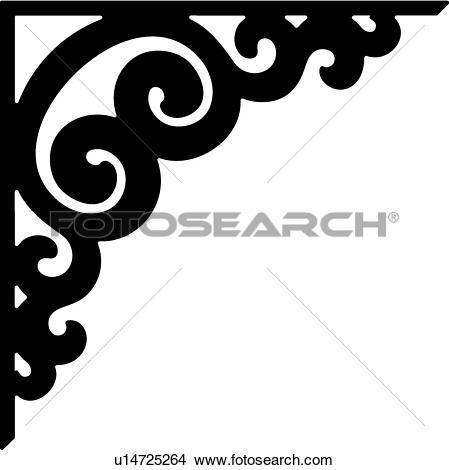 border, bracket, corner, scroll,