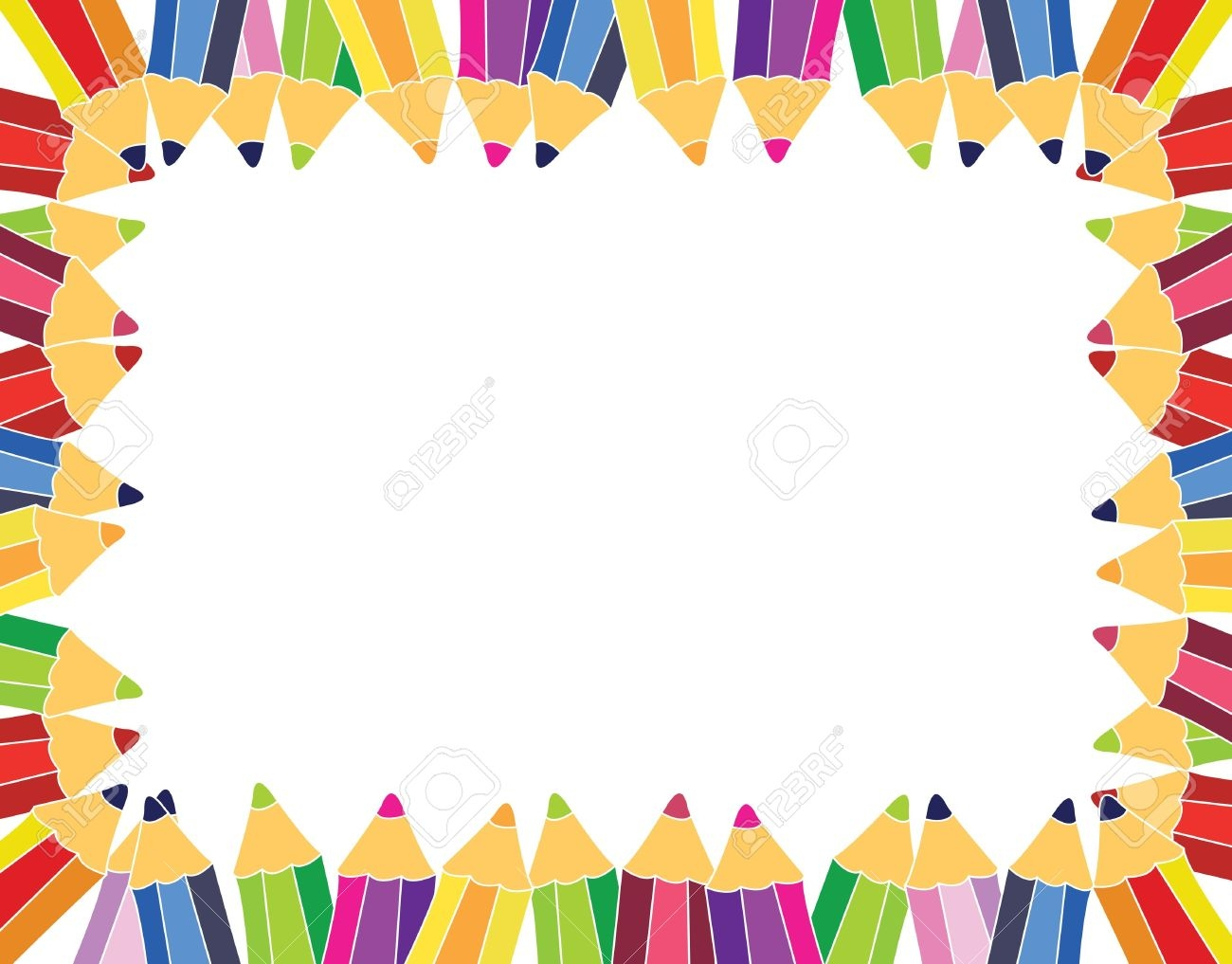 school supplies border clipart 8