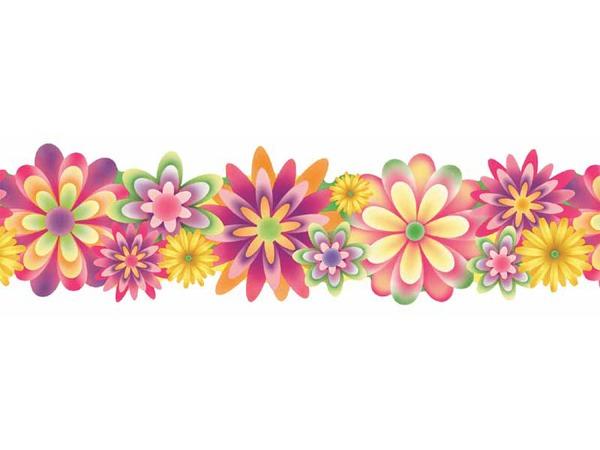 Border Flower Clipart Flowers Borders Vector