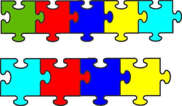 Border Puzzle Piece clip art - vector clip art online, royalty