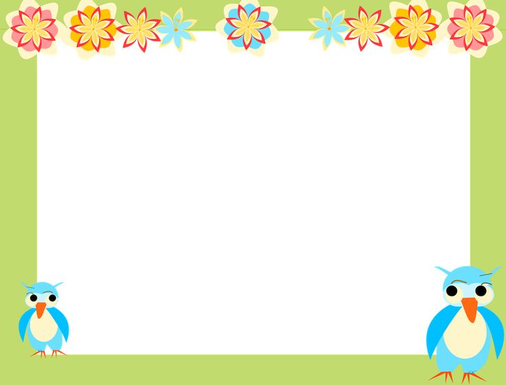 borders and frames clip art | owl scrapbooking paper for kids AND digital  owl frame And