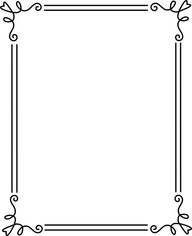borders and frames | Simple Elegant Black Frame 2 - Free Clip Art