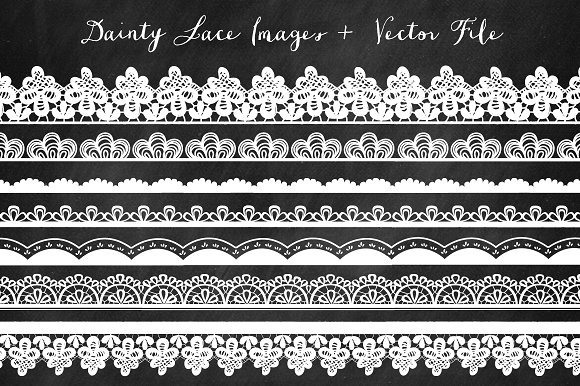 Borders Lace Clip Art - Illustrations
