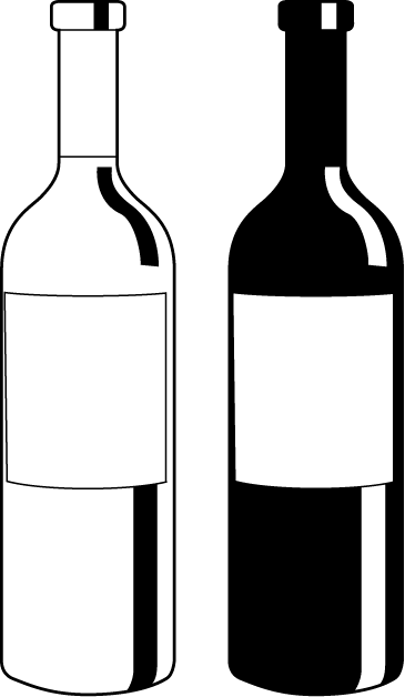 Liquor Bottle Clipart #1