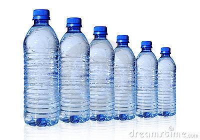 Bottled Water In Six Sizes .