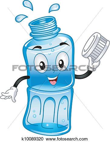 Bottled Water Mascot