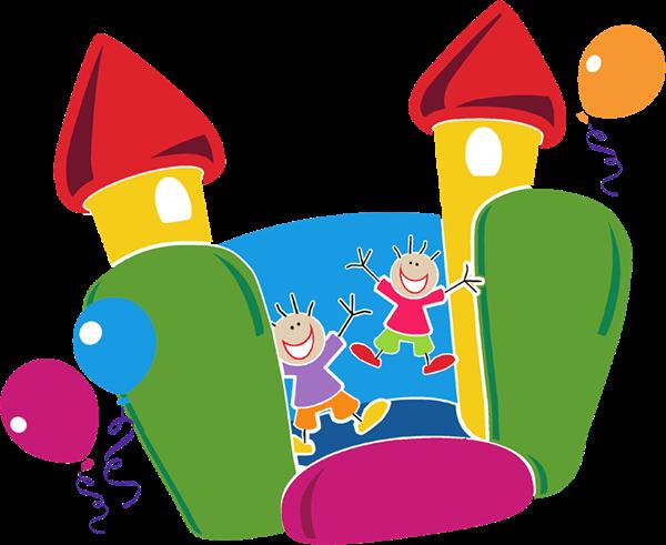 Bounce House Fun Birthday Invitations