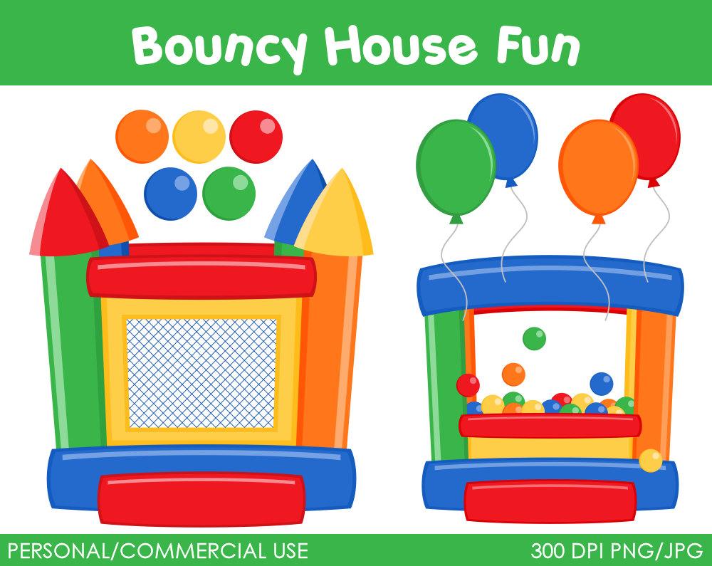 Bouncy House Fun Clipart Digital Clip Art By Mareetruelove
