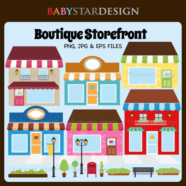 Boutique Storefront 2 6 00 Babystar Design Digital Clipart And