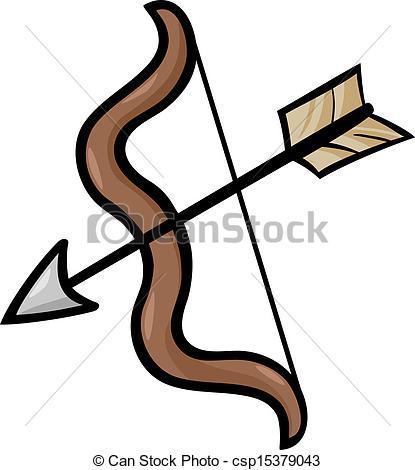 ... bow and arrow clip art cartoon illustration - Cartoon... ...