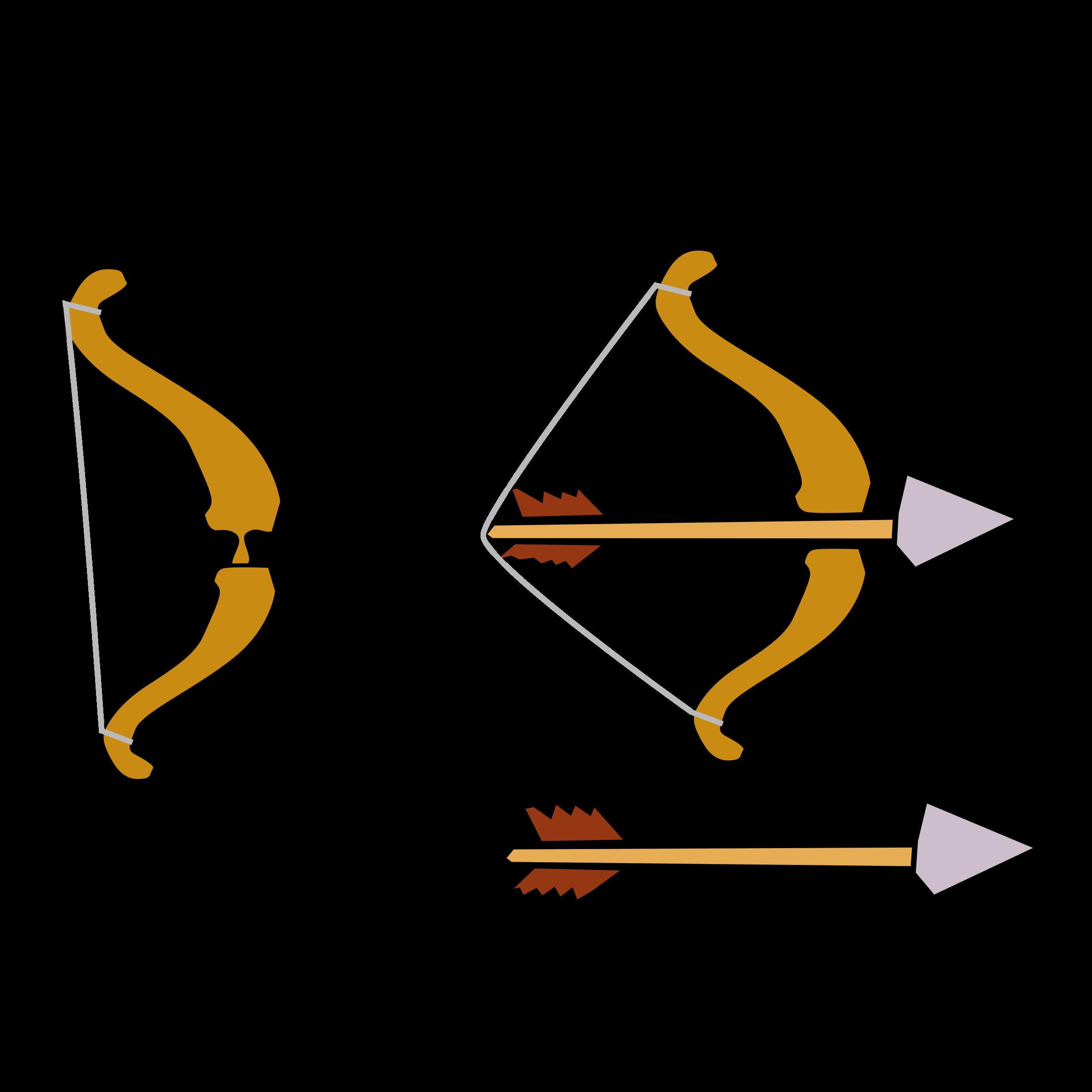 Bow and Arrow Clipart #29585