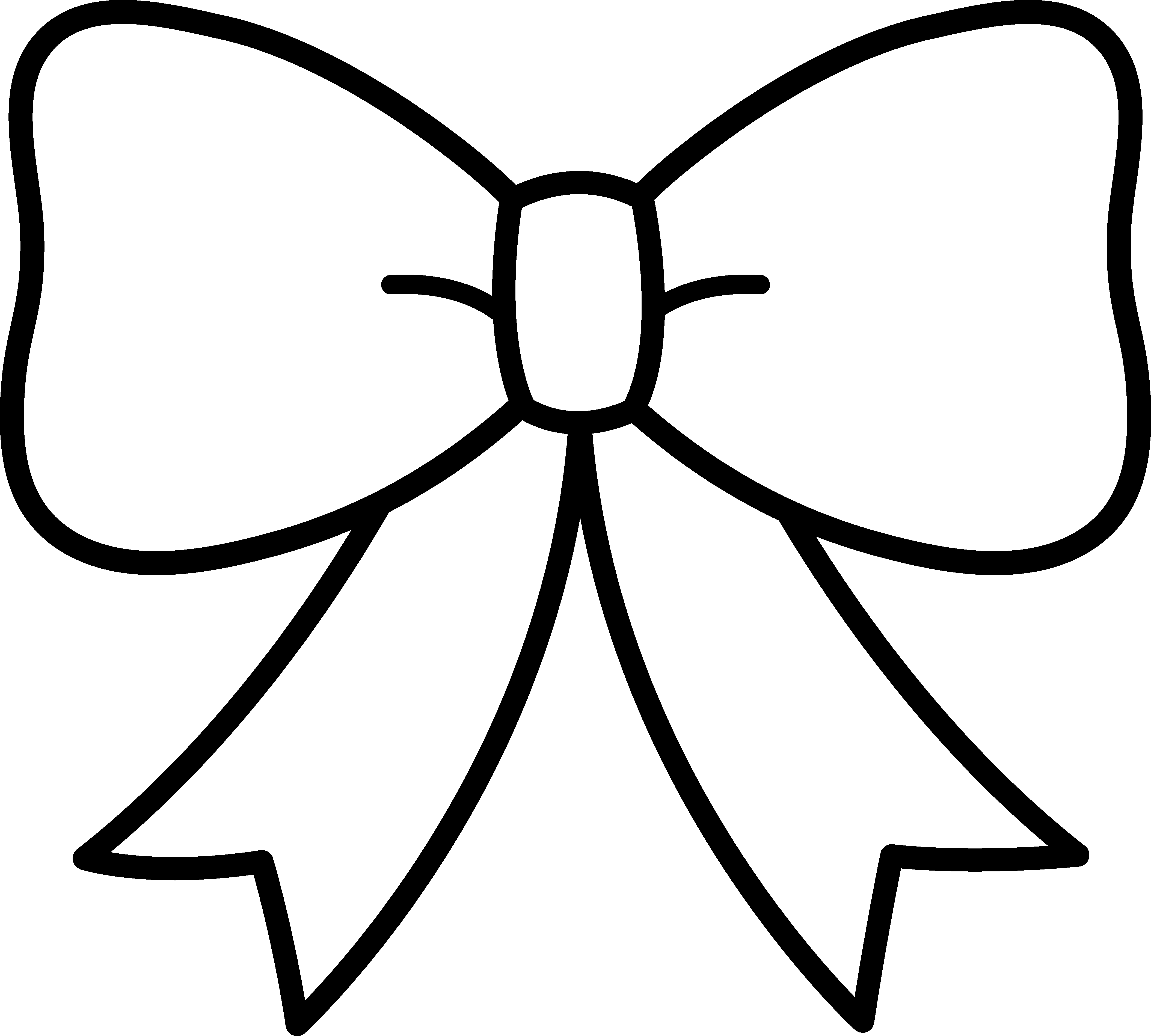 Black And White Bow Design - Free Clip Art