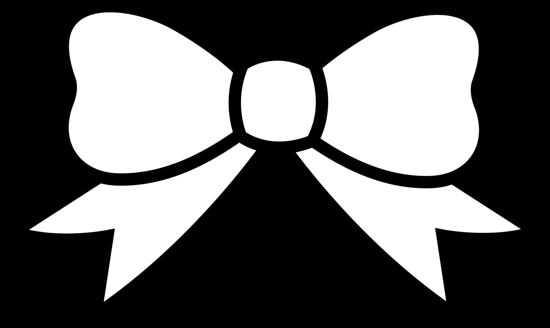 Bow clipart black and white: Hair Bow Clip Art Black