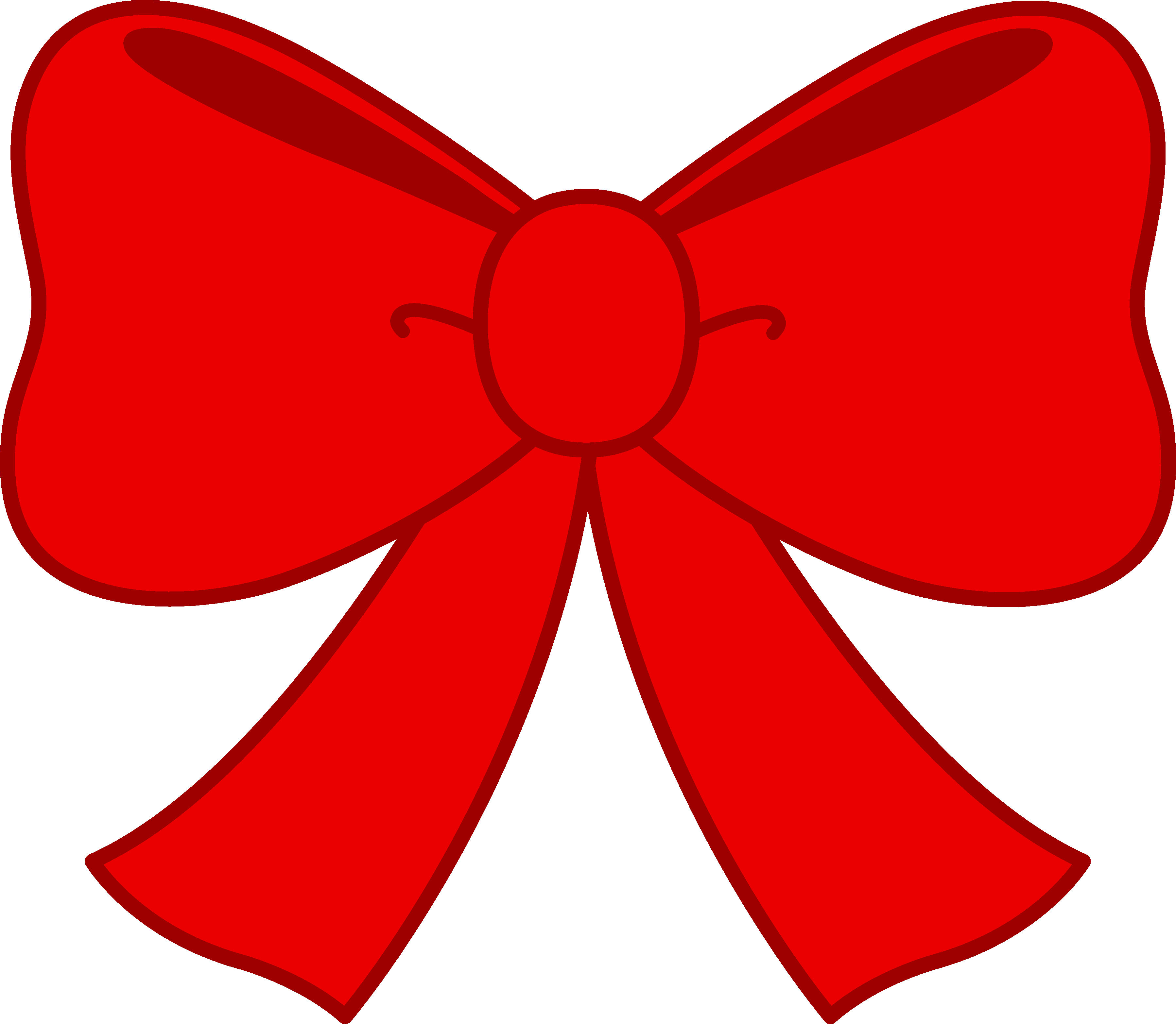 Cute Red Bow Clipart - Free Clip Art