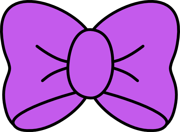 Purple Bow Clip Art at Clker hdclipartall.com - vector clip art online, royalty free u0026  public domain