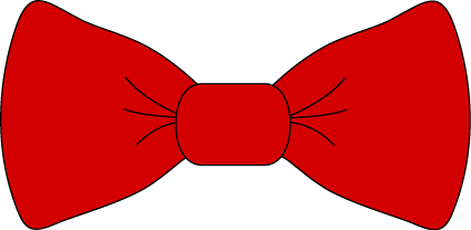 Red Bow Tie Clip Art - Red Bo - Bow Clipart