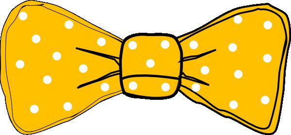 Bow Tie Yellow clip art .