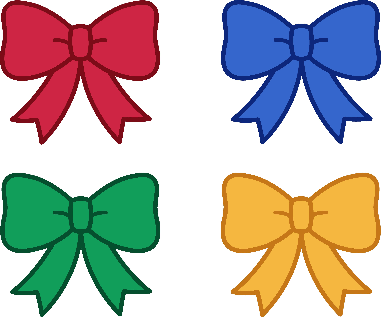 Cute Christmas Bows Clipart - Free Clip Art