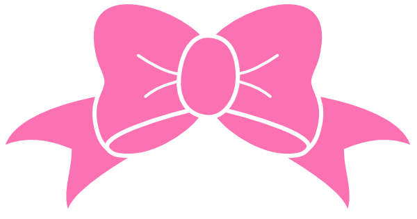 Hot Pink Bow clip art - vector clip art online, royalty free