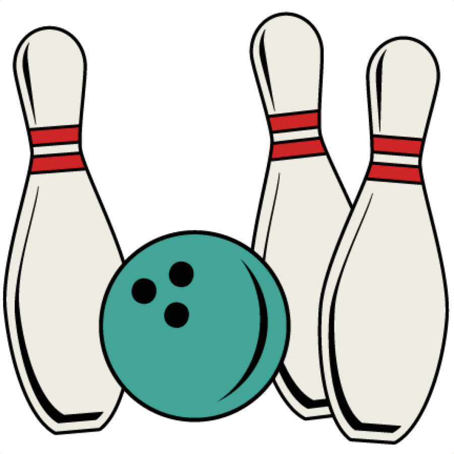 Bowling clipart black and whi
