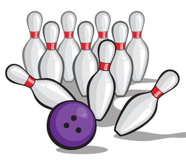 Bowling Topu Vektör Iğne - Pow Gürültüyle çarpmak! Clipart Görüntüleri