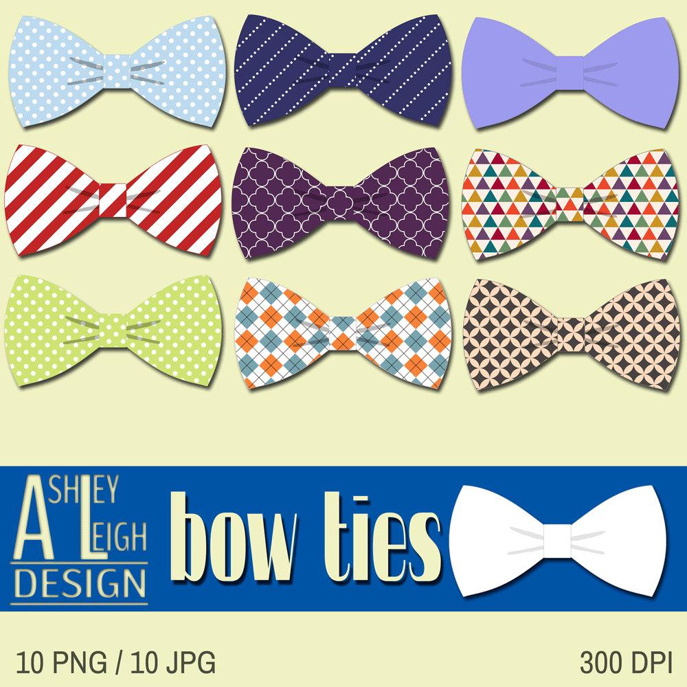 Bowtie ClipArt, Tie Digital Clip Art, Fatheru0026#39;s Day ClipArt, Bow Ties Necktie Digital, Scrapbook Embellishment, INSTANT DOWNLOAD