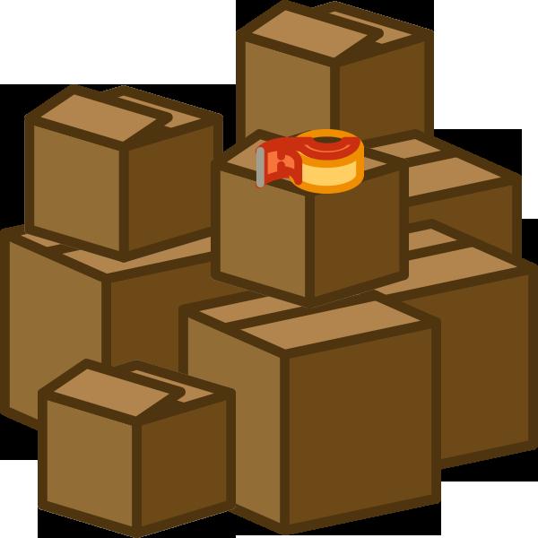 Box clipart pile box #15