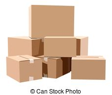 . hdclipartall.com Cardboard boxes - Pile of cardboard boxes on a white.