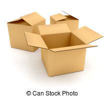 Empty boxes Illustrations and Stock