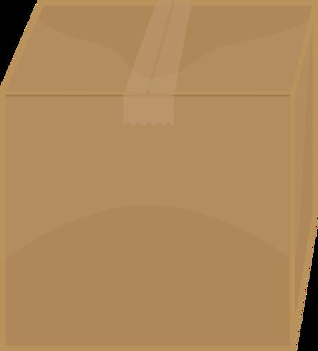 Vector image of taped shut cardboard box