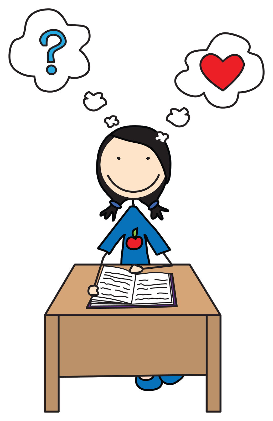 boy and girl student clipart  - Think Clipart