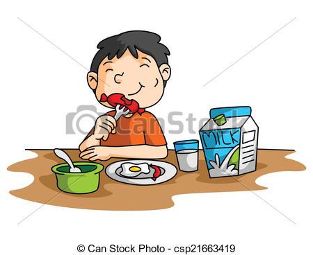 Boy Breakfast Clipartby ...
