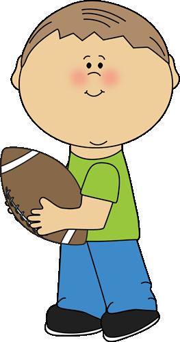 Boy Carrying a Football