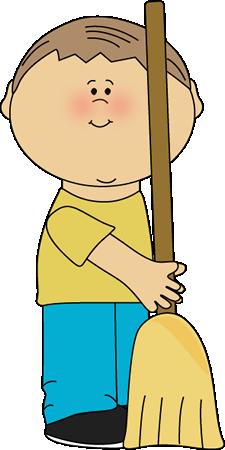 Boy Classroom Sweeper