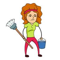 boy doing chores clipart. Size: 53 Kb