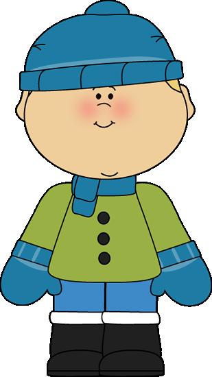 Boy Dressed for Winter