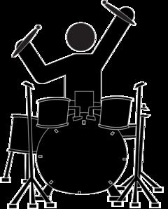 Boy Drummer Clip Art