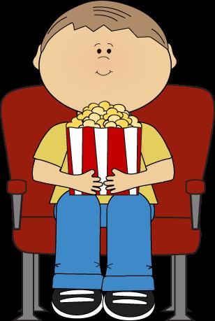 Boy in Movie Theater