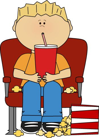 Boy in Movie Theater with Drink and Popcorn clip art image. A free Boy in Movie Theater with Drink and Popcorn clip art image for teachers, ...