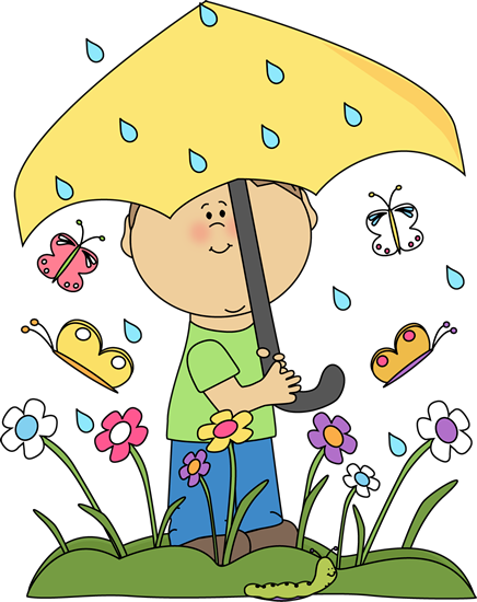 Boy in Spring Rain