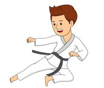 Boy Practicing Karate Kick Size: 86 Kb