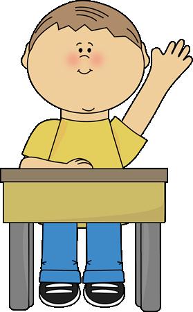 Boy Raising Hand Clip Art Boy Raising Hand Vector Image