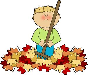Boy Raking Leaves Clip Art Boy Raking Leaves Image