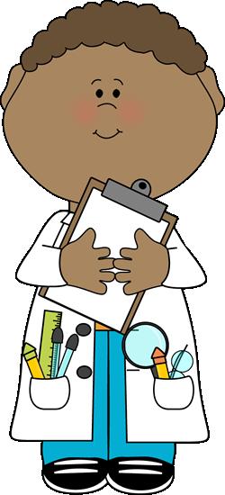 Boy Scientist with Clipboard