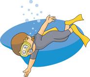 boy scuba diving cartoon. Size: 83 Kb