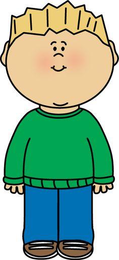 Boy Wearing a Sweater Clip Art - Boy Wearing a Sweater Image
